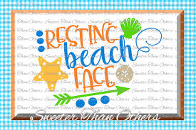 Do you ever get asked questions like. Beach Svg Resting Beach Face Svg Summer Beach Pattern Dxf Silhouette Cameo Cut File Cricut Cut File Instant Download Vinyl Design Download Free Svg Files Creative Fabrica