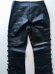 black leather pants wilsons leather maxima size 2