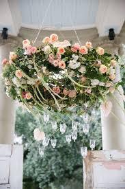 45 inspirational boho wedding decor ideas flower chandelier chwv