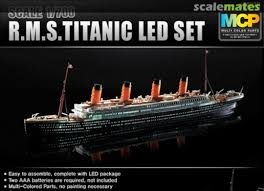 Titanic Model With Led Lights Rms Titanic With Led Lighting Set