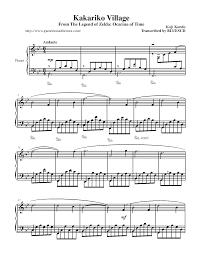 legend of zelda piano sheet music game music themes the legend of zelda ocarina of time sheet music