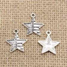 whole 82pcs charms tibetan silver plated usa flag star 23 20mm pendant for jewelry diy hand made ing jewelry usa flag