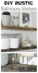 DIY Rustic Bathroom Shelves Seeking Lavendar Lane - Bathroom diy