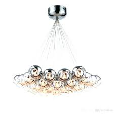striking led pendant chandelier modern chrome glass led pendant chandelier light for living dining study