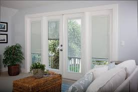 raise and lower blinds between glass lightouch patio doors with custom transom