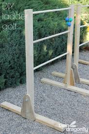 Wooden Ladder Ball Game Gorgeous DIY Ladder Golf Game Dragonfly Designs
