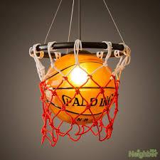 basketball pendant lamp suspension hanging lights chandelier for children s room