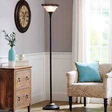 better homes gardens victorian floor lamp with etched glass shade com