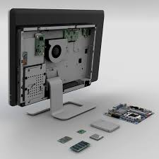 Photo of a computer monitor from the back with its component parts exposed. Customize All-In-One PCs to Meet Compute Needs