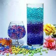 Decorative Vase Filler Balls Unique GEL Vase Filler Gems Color Water Beads Clear Glass Pearl Balls Home