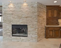 best stacked stone fireplace