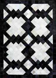 black and white geometric rug. quick view · versailles | cowhide patchwork rug black and white geometric