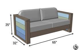 diy patio sofa plans. diy planked wood loveseat plans - dimensions diy patio sofa