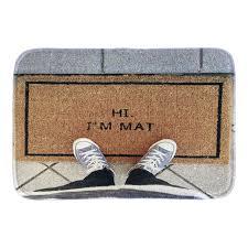front door matsAliexpresscom  Buy Funny Doormats With Phtoto Of Hi IM Mat