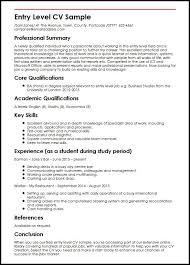Resume And Cover Letter Entry Level Resume Samples Sample Resume