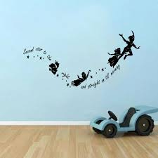 42 peter pan shadow wall decal peter pan shadow with tinkerbell