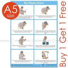 Details About A5 Wudu Poster Wudhu Chart Namaz Salaat Prayer Instruction In English