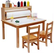 preschool art table. Arts And Crafts Table Multi-purpose Is Perfect For The Young Artist. Paper Can Be Pulled Over Top When Ed. Includes Storage Area Above Rear Preschool Art P