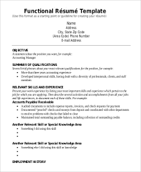 9 Functional Resume Examples Templates Sample Templates