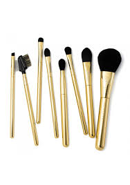 full makeup brush set. personalised 24ct gold-plated full makeup brush set s