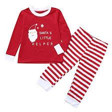 3 Year Old Clothing Size Chart Amazon Com Baby Toddler Boys Girls Christmas Pajamas