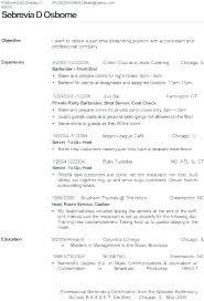 Bartending Resume Template Best Sample Bartender Resume Server And Template Entry Level Word Bar