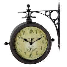 infinity instruments the charleston og round indoor outdoor wall standard clock