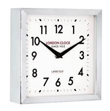 chunky small chrome station wall clock