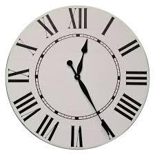 the addison farmhouse wall clock white 30