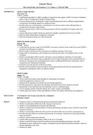 Desk Clerk Resume Samples Velvet Jobs