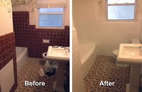 shower and wall tile color change before and after