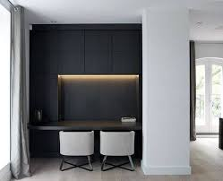 Good contemporary home office Awesome Black Cabinets With Lighting Modern Home Office Designs Furniture Ideas Top 70 Best Modern Home Office Design Ideas Gammer Minds