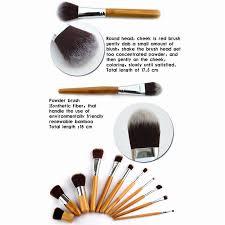 clearance 11pcs makeup brushes cosmetics tools natural bamboo handle eyeshadow cosmetic make up set blush kit pincel maquiagem