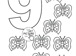 Number Coloring Pages 1 Plus Numbers 10 Pdf Free Seaahco