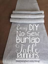 diy no sew burlap table runners diy wedding home decor