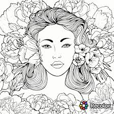 Beauty Coloring Page Recolor App Pretty Pages Coloring Pages