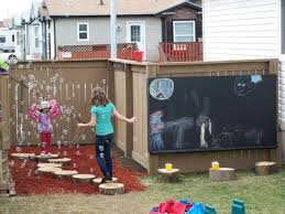 finally your kids will be able to give free rein to his artistic imagination on the chalkboard wall make big outdoor chalkboard wall and create family