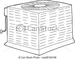 central air conditioner clipart. Brilliant Air Outlined Central Air Conditioner  Csp28163166 On Clipart R