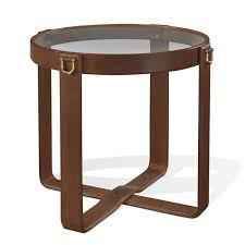 limited ion design ralph lauren equestrian saddle leather table