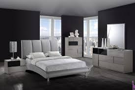 gray modern piece bedroom   gray pu bed  gr by global color gray af
