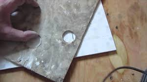 how to drill a hole with a core bit in ceramic tile porcelain tile drilling you