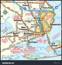 pensacola florida area map stock vector   shutterstock