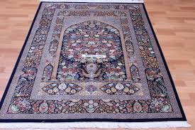 pictorial fl dark qom silk persian rugs pure silk qum persian carpet with dark fl