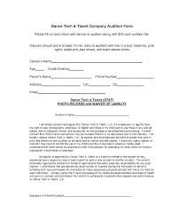 Dance Audition Resumes Resume Format For Acting Auditions Actor Audition Form