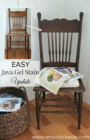 press back chair update with java gel stain simple artsyrule com
