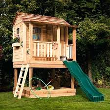 backyard fort plans outdoor playhouse with kitchen cool backyard fort plans