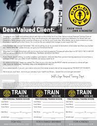golds gym letter