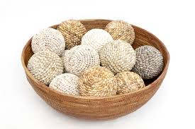 Decorative Balls For Bowl Round Atta Bowl Assorted Shell Balls Orient House 2