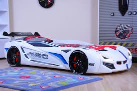 Kids Race Twin Car Bed with Euro Mattress