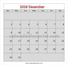 December Calendar Blank December Calendar 2018 Template Calendar Of Dec 2018 With Wordart